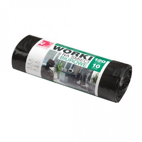 Worki na śmieci biurowe 120L 10 szt LDPE