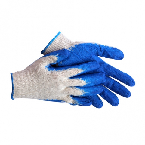 Latex Coated Rubber Work Gloves 1 PAIR