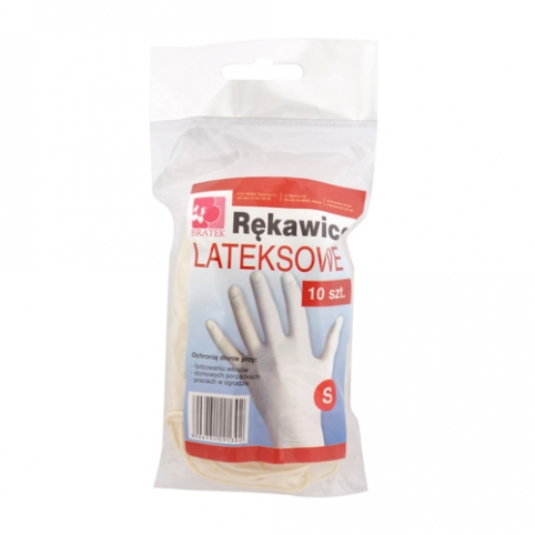Latex Gloves S,M,L 10 items