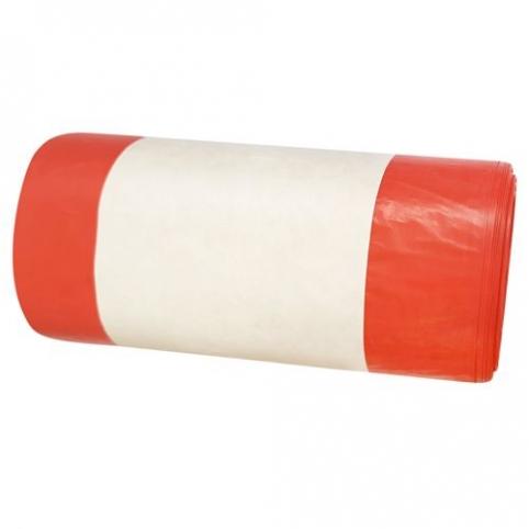 Worki medyczne czerwone 60 litrów 25 sztuk