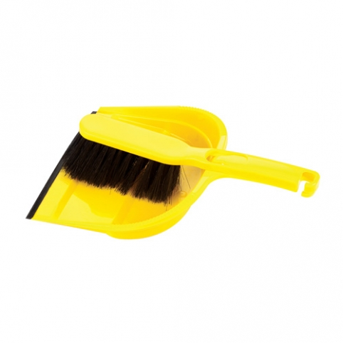 Dustpan and Brush set with rubber strap