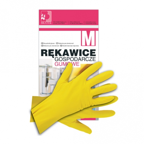 Rękawice gumowe, gospodarcze M rozmiar M - średnie