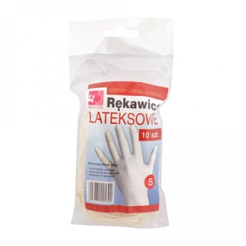 Rękawice lateksowe 10 sztuk S, M, L