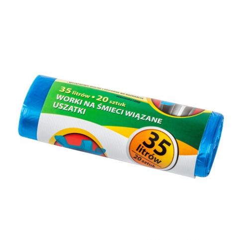 Easy To Close Garbage Bags 35L 20  items