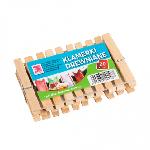 Laundry wooden clips 20 items