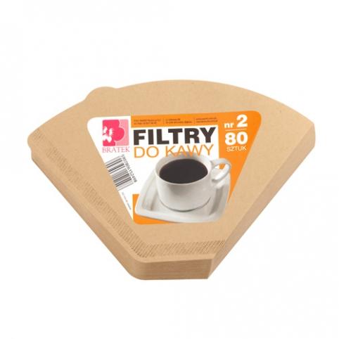 Filtry do kawy nr2 80 sztuk