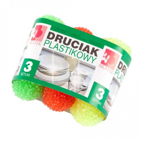 Druciak plastikowy 3 sztuki
