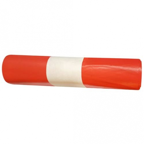 Worki medyczne czerwone 120 litrów 25 sztuk