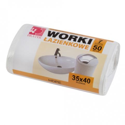 Worki łazienkowe białe 7l 50 sztuk