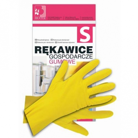 Rękawice gumowe, gospodarcze rozmiar S - małe