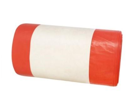 Worki medyczne czerwone 35 litrów 25 sztuk