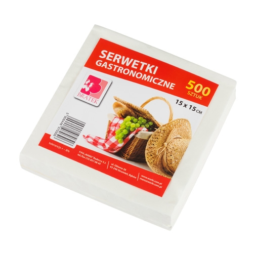 Serwetki gastronomiczne  15X15 500 szt