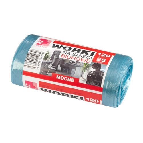 Worki na śmieci biurowe <span>120L 25 szt LDPE</span>