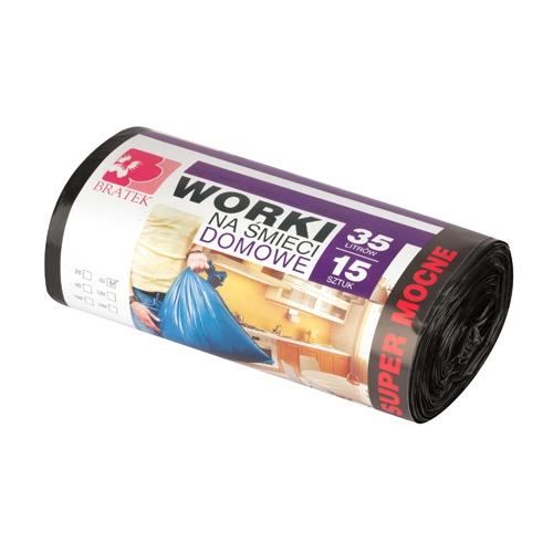 Worki na śmieci domowe <span>35L 15 szt LDPE</span>