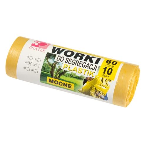 Worki do segregacji 60l <span>10 sztuk żółte - PLASTIK</span>
