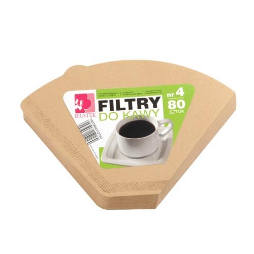 Filtry do kawy nr4  80 sztuk