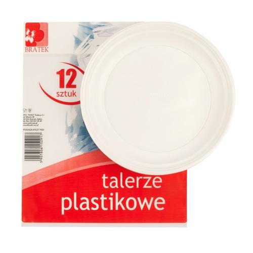 Talerze plastikowe  12 szt