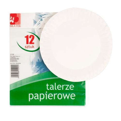 Talerze papierowe  12 szt